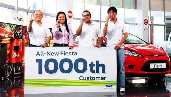Ford Fiesta 1000th sales
