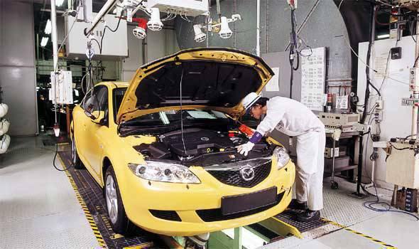 Mazda Hofu plant in Japan
