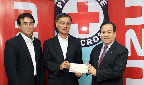 Isuzu donates to Japan