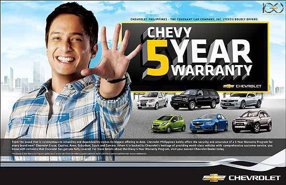 Chevrolet Philippines warranty program