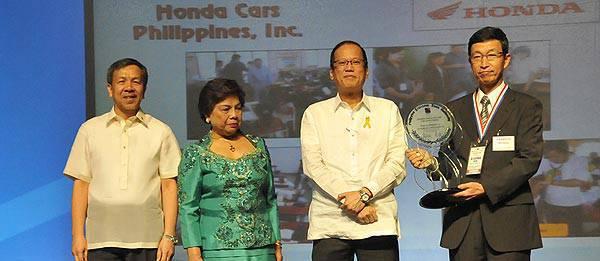 TopGear.com.ph Philippine Car News - Honda Cars Philippines bags PEZA award