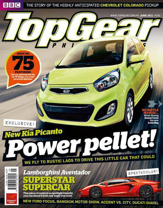 Top Gear Philippines June 2011 Cover