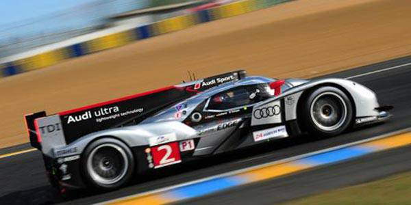 Audi R18 TDI in action at 2011 Le Mans