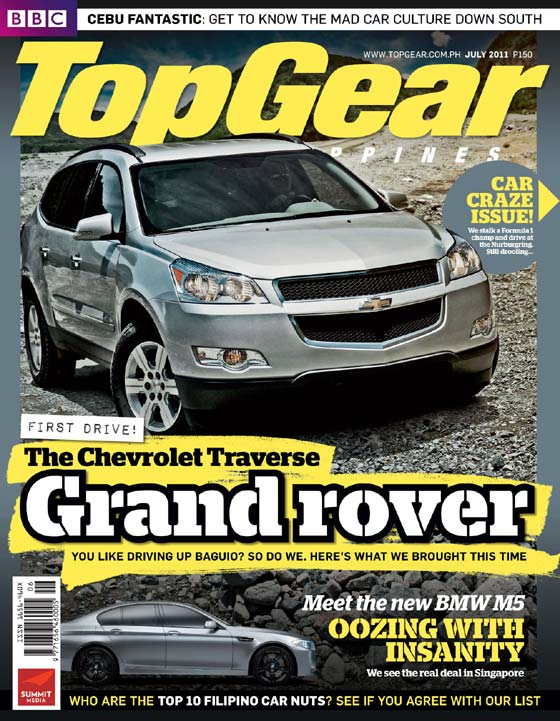 Top Gear Philippines July 2011 Cover