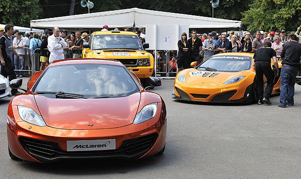 TopGear.com.ph Philippine Car News - Button, Hamilton drive road, race versions of McLaren MP4-12C in Goodwood