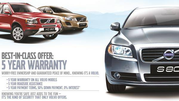 Volvo's five-year warranty program