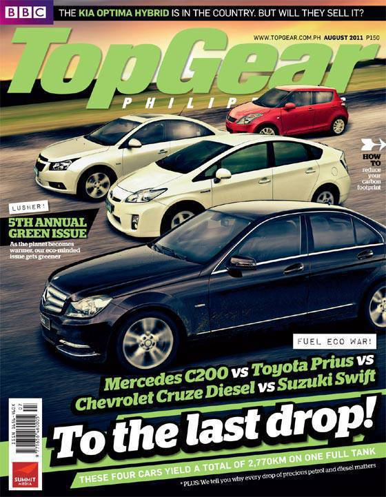 Top Gear Philippines August Cover