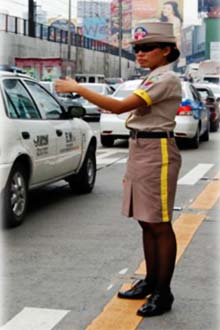 MMDA female traffic enforcer