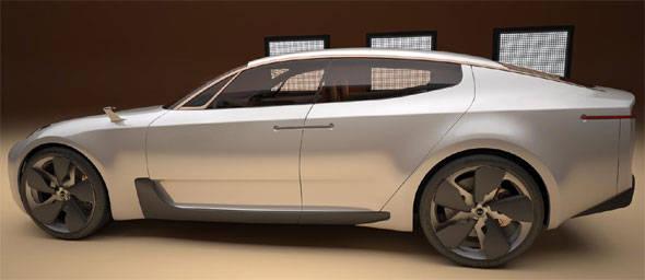 Kia 4-door sports sedan
