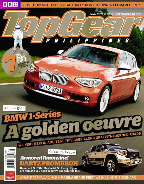 Top Gear Philippines' September 2011 issue