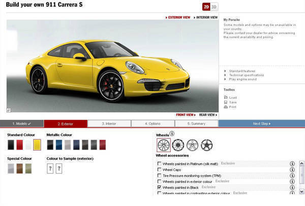 TopGear.com.ph Philippine Car News - Porsche sets new standards with its car configurator