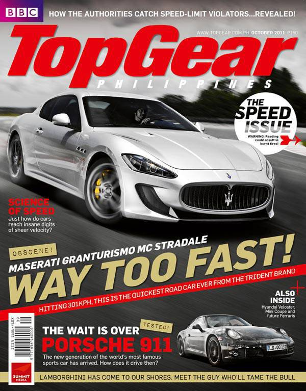 Top Gear Philippines' October 2011 issue
