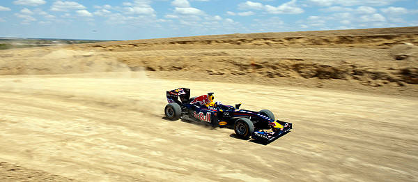 TopGear.com.ph Philippine Car News - Red Bull Formula 1 showcar tackles under-construction US F1 circuit