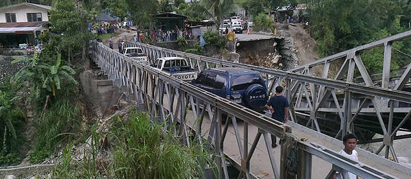 TopGear.com.ph Philippine Car News - DPWH completes construction of detour bridge in Ifugao in eight days
