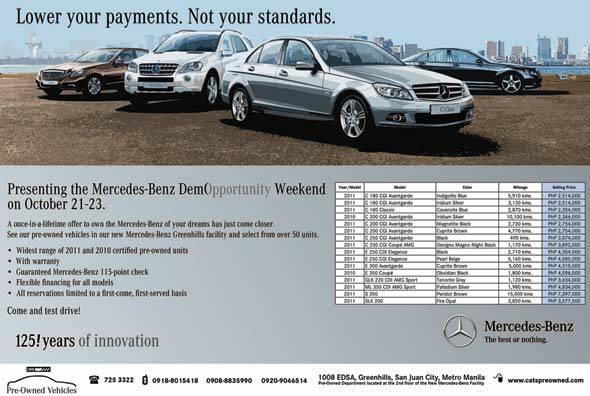Mercedes-Benz DemOpportunity Weekend