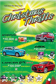 TopGear.com.ph Philippine Car News - Mitsubishi promo: Christmas Thrills for new-car buyers