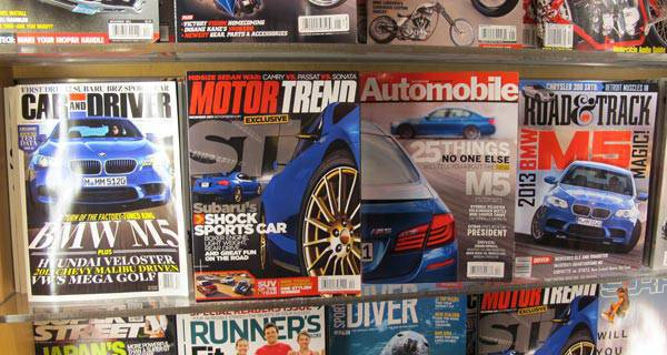 BMW M5 on US car magazine covers