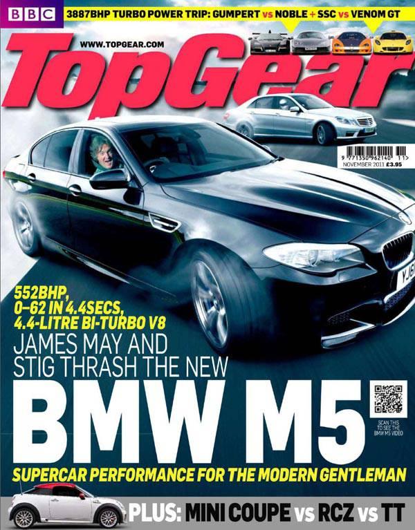 Top Gear UK's November 2011 cover