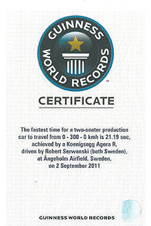 TopGear.com.ph Philippine Car News - Koenigsegg officially bags Guinness World Record