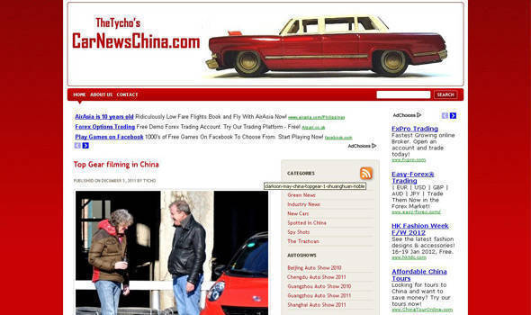 TopGear.com.ph Philippine Car News - Clarkson, May spotted in China driving Chinese cars