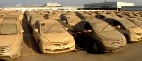 TopGear.com.ph Philippine Car News - Honda starts scrapping over 1,000 brand-new flood-damage cars in Thailand