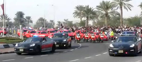 TopGear.com.ph Philippine Car News - Qatar government shows off its Porsche police cars in parade