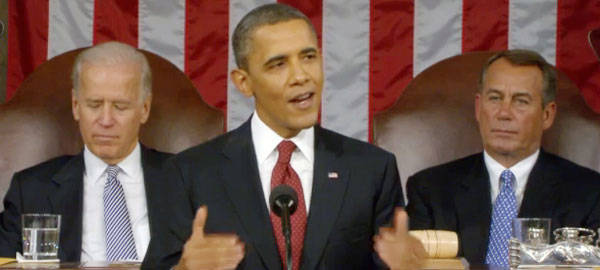 President Obama gives his 4th State of the Union Address