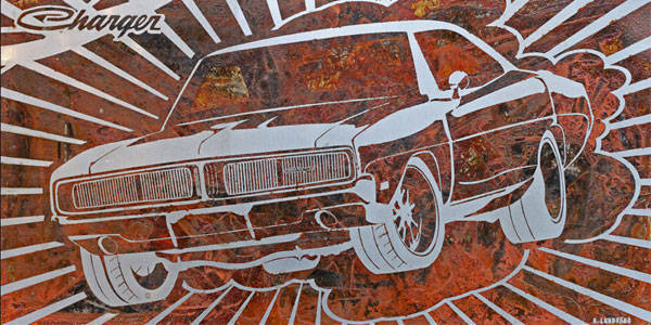 Bo Lundvang's rusted car art