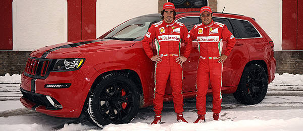 TopGear.com.ph Philippine Car News - Alonso, Massa receive custom-built Jeep Grand Cherokee SRT8s
