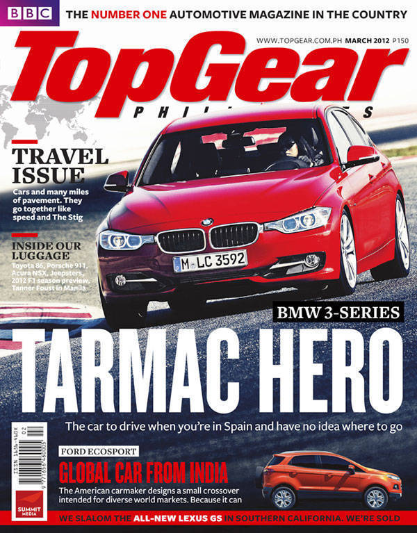 Top Gear Philippines' March 2012 cover