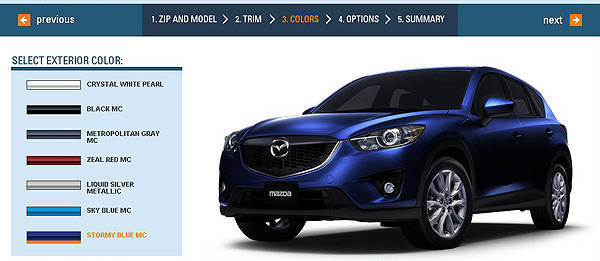 TopGear.com.ph Philippine Car News - Mazda CX-5 configurator goes online