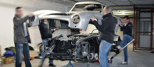 TopGear.com.ph Philippine Car News - Mercedes-Benz destroys unauthorized 300 SL replica