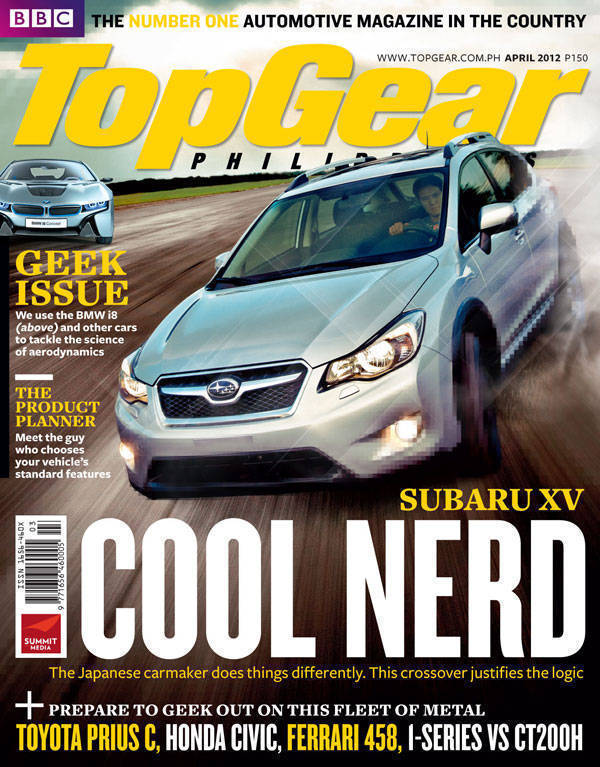 Top Gear Philippines' April 2012 cover