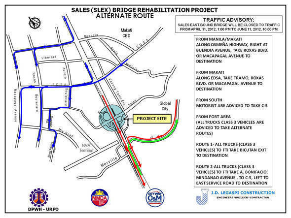 TopGear.com.ph Philippine Car News - DPWH advisory: Traffic rerouting as agency begins rehabilitation of Sales Bridge