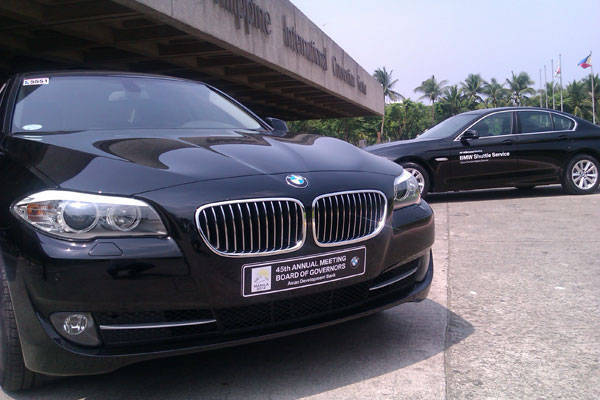 BMW 5-Series for ADB Governors' Meeting