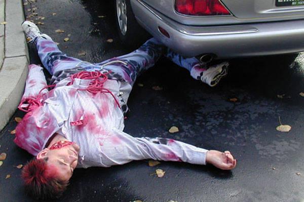 Bloody cadaver