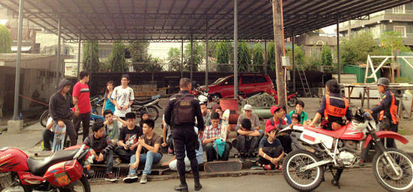 Skateboarders rounded up at BGC