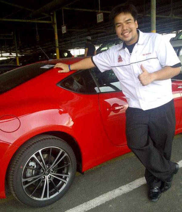 Toyota Motor Philippines' red 86