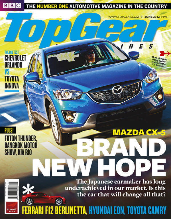 Top Gear Philippines' June 2012 cover