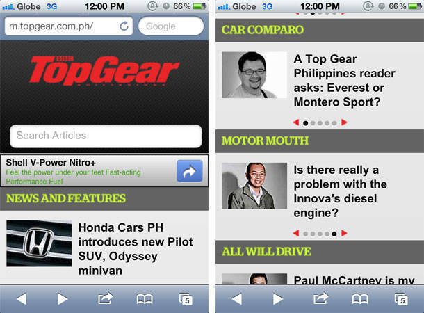 TopGear.com.ph mobile version