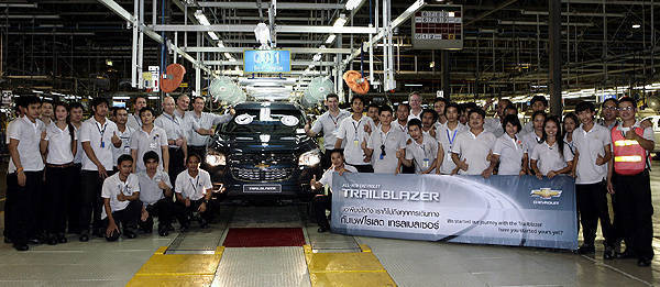 TopGear.com.ph Philippine Car News - Chevrolet begins production of Trailblazer in Thailand