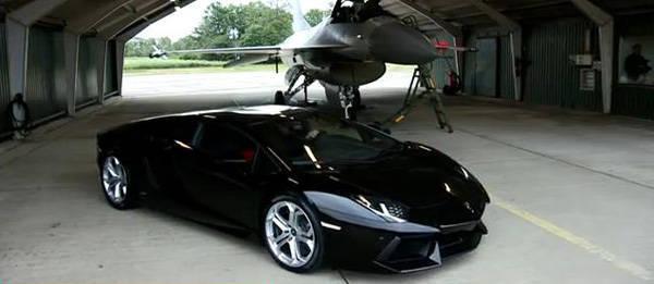 TopGear.com.ph Philippine Car News - Ex-F1 driver races Lamborghini Aventador against F-16 fighter jet