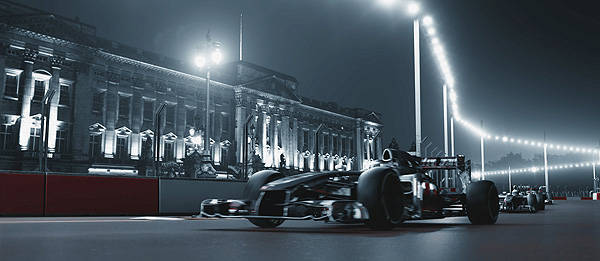 McLaren sponsor Santander simulates planned London Grand Prix