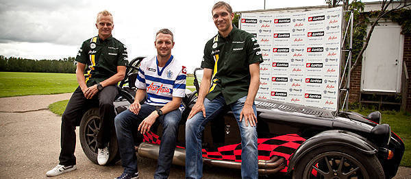 TopGear.com.ph Philippine Car News - Kovalainen, Petrov play football with professional players using a Caterham 7