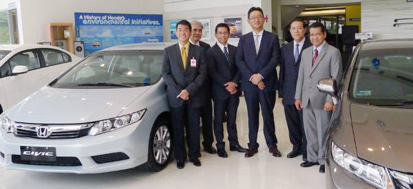 Honda Cars Philippines executives during the launch