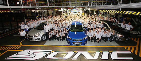 TopGear.com.ph Philippine Car News - Production of ASEAN-market Chevrolet Sonic starts in Thailand