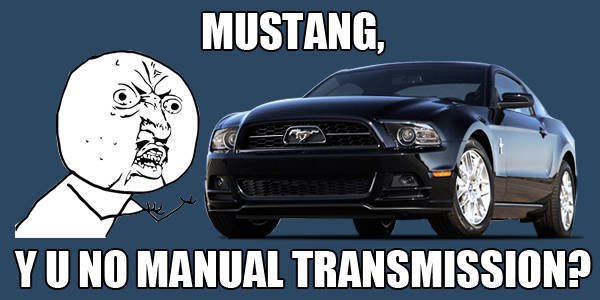 TopGear.com.ph Philippine Car News - Ford Mustang won't be available with a manual transmission