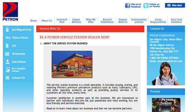 Petron franchise opportunity