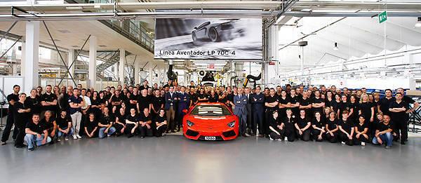 TopGear.com.ph Philippine Car News - Lamborghini produces 1,000th Aventador