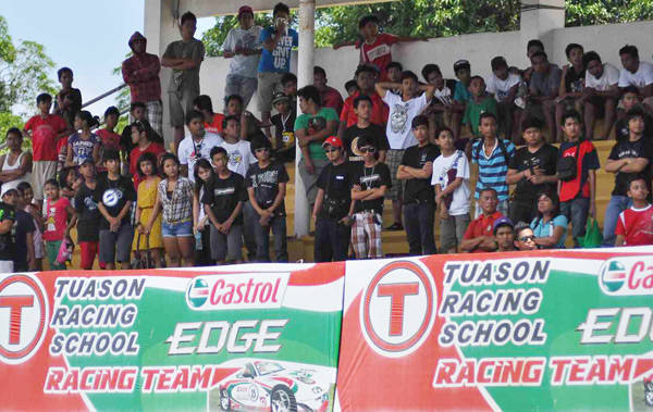 Spectators at Batangas Racing Circuit